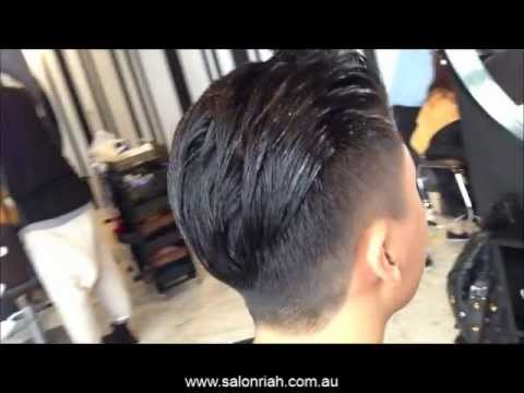 Men's Classic All Back Hairstyle
