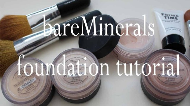 Bare Minerals powder foundation tutorial (V6)