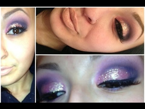 Pink, Purple & Gliter (Dramatic Eyeshadow)
