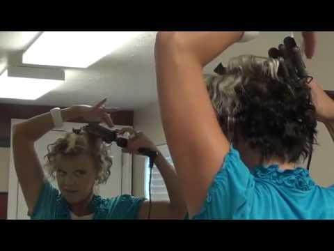 How to Three Barrel Short Hair   Similar to Meg Ryan Hairstyle
