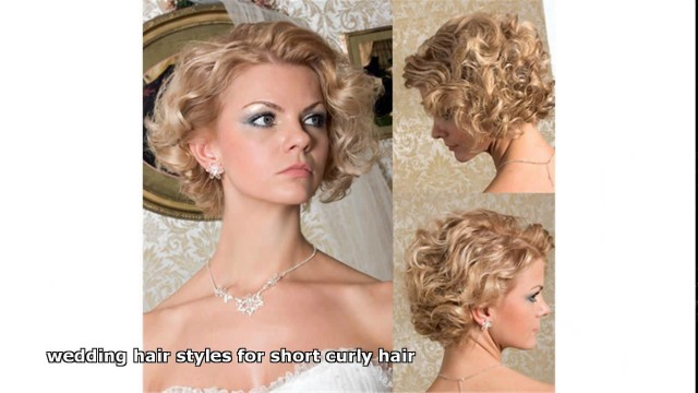 wedding hair styles for short curly hair