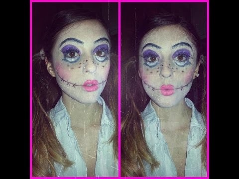 (¯`·._.·[HALLOWEEN MAKE UP TUTORIAL – CRAZY DOLL – ]·._.·´¯)