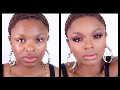 Fashion Fair Makeover | Full Face Tutorial | Foundation Contour Highlight Eyes Lips