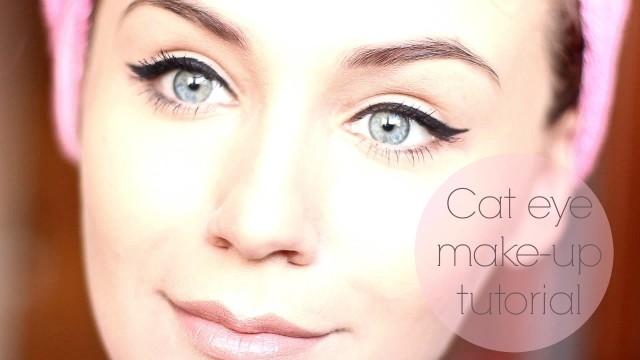 Cat eye makeup tutorial. Sau cum îmi fac eu ochii de pisică :)
