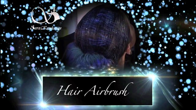 how to apply airbrush, Hair Art with Airbrush [make up 2015]