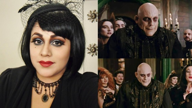 Addams Family Inspired Halloween Makeup